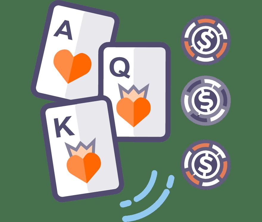 Žaisk Trijų kortų pokeris internetu – 38 pelningiausi Internetinis Kazino 2021-iais